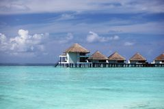 Maldivian houses Stock Images