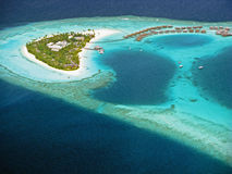 Maldivian Island From Hydroplane Stock Photos