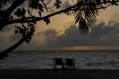 Maldivian island loneliness Royalty Free Stock Images