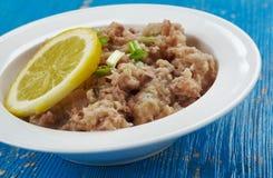 Maldivian  Mas huni. Mas huni - typical Maldivian breakfast, composed of tuna, onion, coconut, and chili Stock Photography