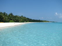 Maldivian na plaży zdjęcie stock