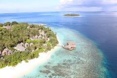 Maldivian na plaży Zdjęcia Royalty Free