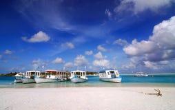 maldivian port Royaltyfri Foto