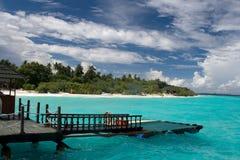 Maldivian resort Stock Image