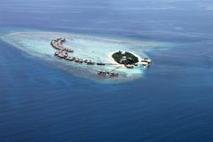 Maldivian resort Royalty Free Stock Image