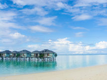 Maldivian resort Royalty Free Stock Photo