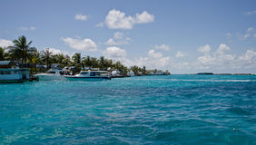 Maldivian speedboats Royalty Free Stock Photography