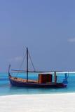 Maldivian-stijl houten boot Royalty-vrije Stock Afbeeldingen