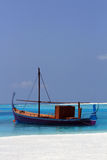 Maldivian-style wooden boat Royalty Free Stock Images