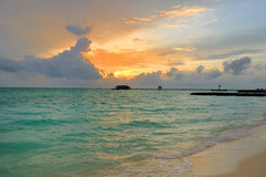 Maldivian sunrise Royalty Free Stock Photo