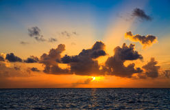 Maldivian Sunset Stock Image