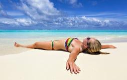 Maldivian wybrzeża podróż raj Fotografia Royalty Free
