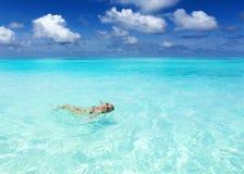 Maldivian wybrzeża podróż raj Obrazy Royalty Free