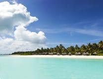Maldivian wybrzeża podróż raj Obraz Royalty Free
