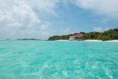 Maldivian wyspa dom Fotografia Royalty Free