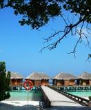 Maldivisk semesterort Royaltyfria Bilder