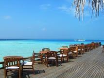 Maldivisk semesterort Arkivbilder