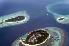 Maldiviska Airview Royaltyfri Bild