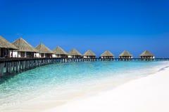 Maldiviska Watervillas Royaltyfri Fotografi