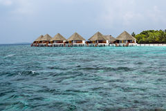 Maldivo Watervillas Foto de archivo libre de regalías