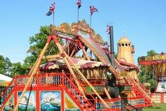 MALDON ESSEX paseo BRITÁNICO del 29 de mayo de 2014 en el parque de atracciones al aire libre Imagen de archivo libre de regalías