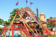 MALDON ESSEX UK  29 May 2014 Ride at outdoor fairground Royalty Free Stock Image
