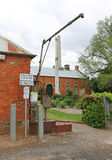 The Maldon standpipe dispenses water for domestic and commercial water carters. Access is gained by the use of tokens purchased Stock Photo