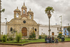Maldonado Square at Riobamaba, Ecuador Royalty Free Stock Image