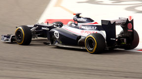 Maldonado of Williams-Renault racing, 20 April 12 Stock Photography