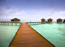 Maldves Resort. Medhufushi Island Resort is naturally quiet, serene, authentic Maldivian island royalty free stock image