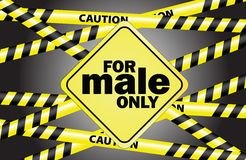 For male only Royalty Free Stock Images