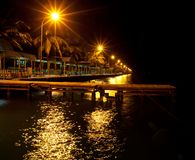 Male. Night scene in Male,Maldives capital Royalty Free Stock Photo