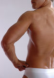 Male 3/4 rear view royalty free stock photos