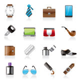 Male accessories and clothes icons- Stock Photos