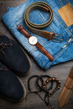 Male accessories Stock Photography