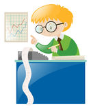 Male accountant working with numbers Royalty Free Stock Photo