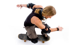 Male in action on skateboard Royalty Free Stock Photography