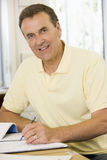 Male adult student studying Royalty Free Stock Image