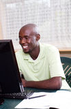 Male adult student using internet Royalty Free Stock Images