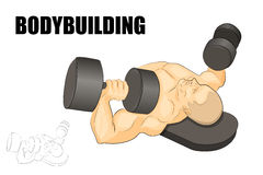 The male African-American with dumbbells Stock Photography
