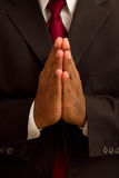 Male African American Praying stock photography