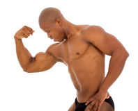 Male african bodybuilder Royalty Free Stock Photo