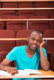 Male african college student Royalty Free Stock Photo