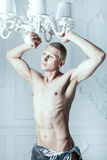 Male albino poses. Stock Photos