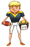 A male American football player Stock Images