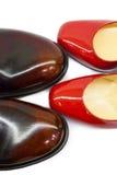 Male&female shoes-3 Foto de archivo libre de regalías