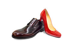 Male&female shoes-5 Imagen de archivo libre de regalías