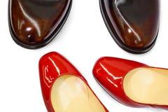 Male&female shoes-9 photographie stock libre de droits