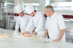 Free Male And Apprentice Chefs Working At Kitchen Royalty Free Stock Photography - 123020857