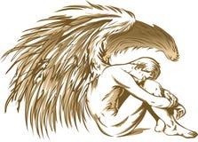 MALE ANGEL Stock Photo
